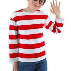 Where is Waldo Red Stripped Shirt